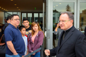 Bishop Barber welcomed applicants and guests to the Cathedral of Christ the Light